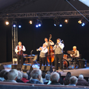 Aker Bilk on hever stage - picture by Graham Silvester