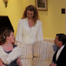 Blithe Spirit - Ruth, Charles and Elvira - picture by Graham Silvester
